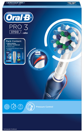 Oral-B (Braun) El-tandbørste Pro 3 3700 CrossAction