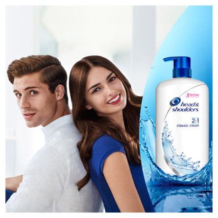 Head & Shoulders Classic Clean 2in1 Skælshampoo 1000 ml