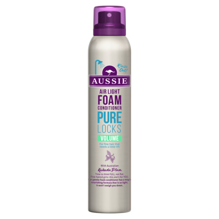 Aussie Pure Locks Volume Foam Conditioner 180 ml