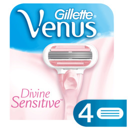 Gillette Venus Divine Sensitive Barberblade 4 stk.