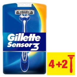 Gillette Sensor3 engangsskrabere 4+2 stk.