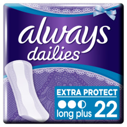 Always Dailies Extra Protect trusseindlæg Long Plus 22 stk.