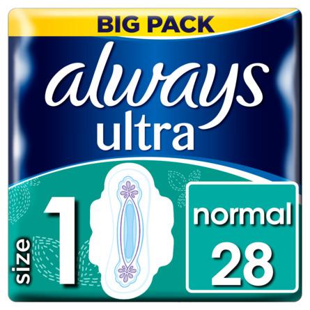 Always Normal Ultra (str. 1) bind med vinger 28 stk.