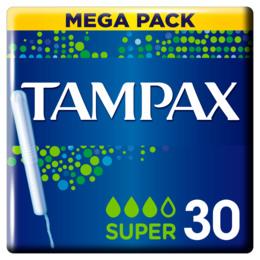 Tampax Super Tamponer Med Indføringshylster 30 stk.