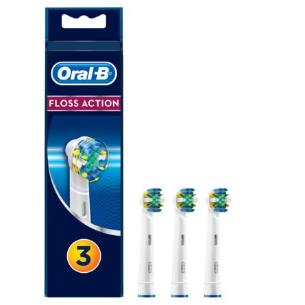 Oral-B (Braun) FlossAction Udskiftelige Elektriske Børstehoveder 3 stk.