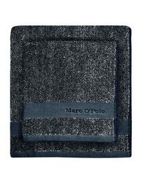 Marc O'Polo Melange Håndklæde marine/Light Silver 50 x 100 cm