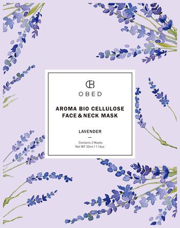 Obed Bio Cellulose Face & Neck Mask Lavender 1 stk