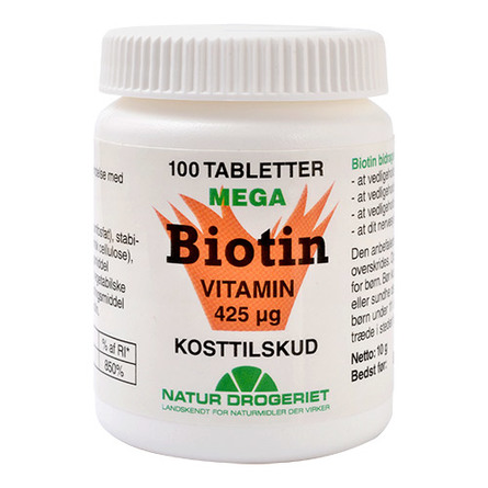 Natur Drogeriet Biotin 100 tabl.