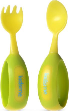 Kidsme Ske & gaffel sæt Lime
