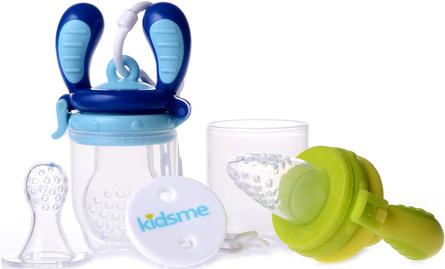 Kidsme Food Feeder Startpakke 2-Pak Lime/Aquamarine