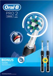 Oral-B (Braun) Pro 2 2900 CrossAction Elektriske Tandbørster(2 tandbørster) 2 stk.