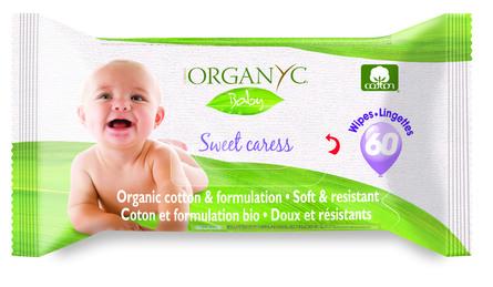 Organyc Vådservietter Baby 60 stk.
