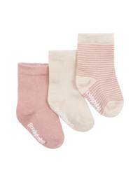Boody Baby 3 Pack Socks Natur/Lyserød 6-12