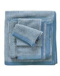 Marc O'Polo Timeless Tone Stripe Håndklæde Smoke Blue/Off White 50 x 100 cm