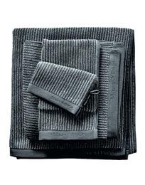 Marc O'Polo Timeless Tone Stripe Håndklæde Anthracite/Silver 50 x 100 cm