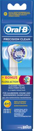 Oral-B (Braun) Precision Clean Elektriske Børstehovedrefiller 4 Stk. + 1 Stk. Floss Action 5 stk.