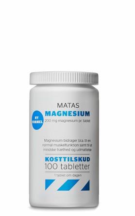 Matas Striber Matas Magnesium 200 mg 100 tabl.