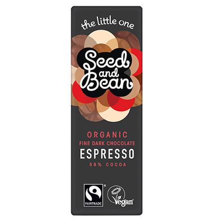 Seed & Bean Mørk chokolade 58% Espresso Øko 25 gr