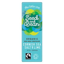 Seed & Bean Mælkechokolade 37% Cornish Sea Salt & Lime Øko 25 gr