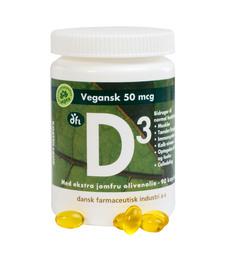 Berthelsen D3 vitamin 50 mcg vegansk  90 kaps.
