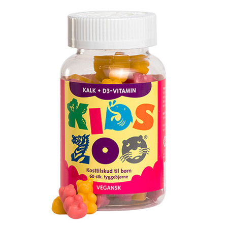 Kids Zoo®  Kalk + D vitamin 60 stk