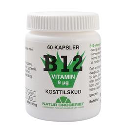 Natur Drogeriet B12 vitamin 9 mcg 60 kapsler