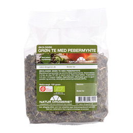 Grøn te m. pebermynte Ø 100 g