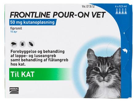 Frontline Pour-on Vet. Kat 4 x 0,5 ml