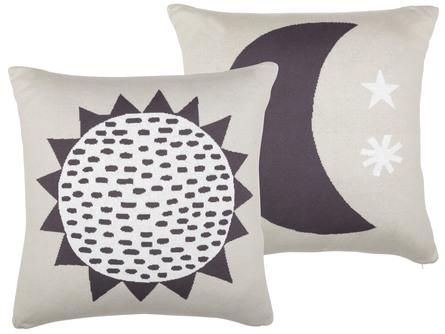 Södahl Sun & Moon Pude Sort 50 x 50 cm