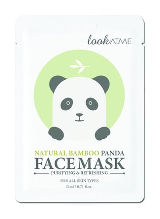 Look At Me Natural Bamboo Panda Face Mask 1 stk