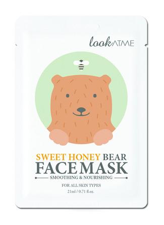 Look At Me Sweet Honey Bear Face Mask 1 stk