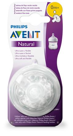 Philips Avent Flaskesut Natural V2 0 m, 2-Pak