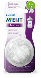 Philips Avent Flaskesut Natural V2 1 m, 2-Pak
