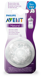 Philips Avent Flaskesut Natural V2 3 m 2-Pak