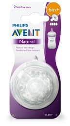 Philips Avent Flaskesut Natural V2 6 m 2-Pak