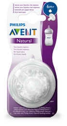 Philips Avent Flaskesut Natural V2 6 m Vælling, 2-Pak