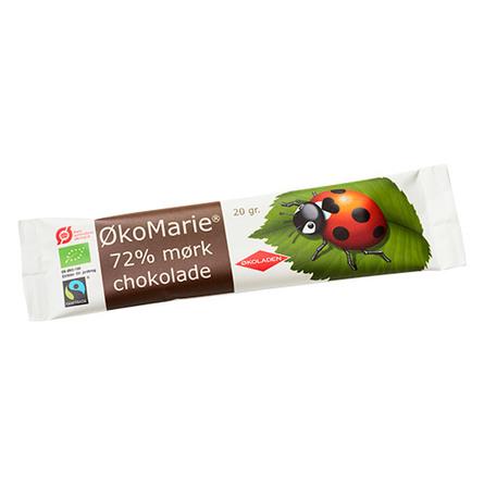 ØkoMarie 72% Mørk Chokolade Ø 20 g