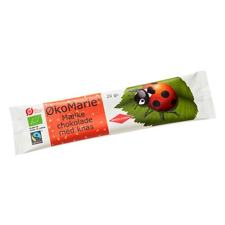 ØkoMarie Mælkechokolade Knas Ø 20 g