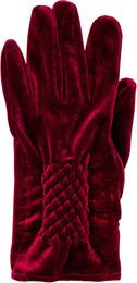 Luxury by Laze Velour Handske Bordeaux Str. S/M