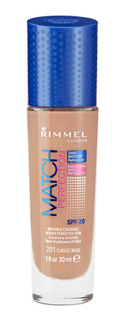 Rimmel Match Perfect Foundation 201 Classic Beig