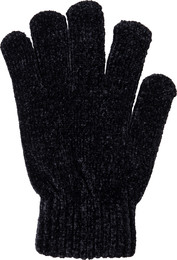 Laze Chenille Handsker 2-pak Sort Onesize
