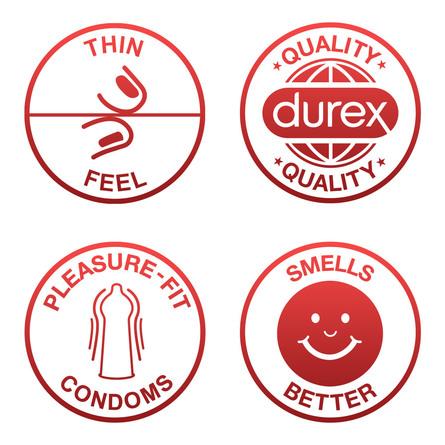 Durex Feel Ultra Thin kondom 10 stk