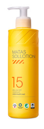 Matas Striber Sollotion SPF 15 med Pumpe 400 ml