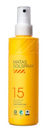 Matas Striber Solspray SPF 15 Uden Parfume 200 ml
