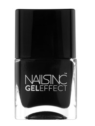 Nails inc GEL EFFECT BLACK TAXI 14 ML