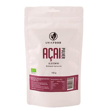 Unik Food Acai pulver Øko 100 gr