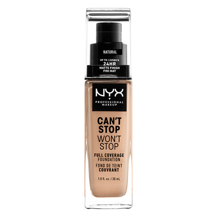 NYX PROFESSIONAL MAKEUP Can't Stop Won't Stop 24-Hours Foundation Natural