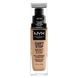 NYX PROFESSIONAL MAKEUP Can't Stop Won't Stop 24-Hours Foundation Soft Beige
