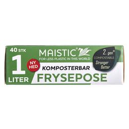 Maistic Bio Komposterbare fryseposer 1 L 40 stk.