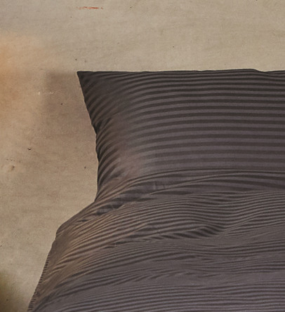 Casa Decor Sengetøj Stripe Antrazite 140 x 200 cm